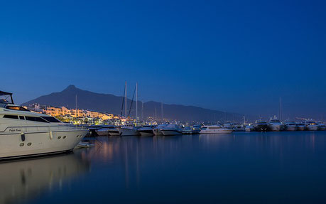 Marbella Port at Night Spain