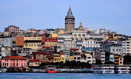 View on the Old City and Galata Tower Istanbul Shore cruise tour Jewish