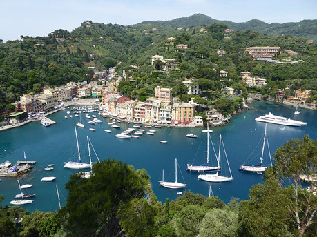 View from the Above Portofino Italy Jewish tours cruise