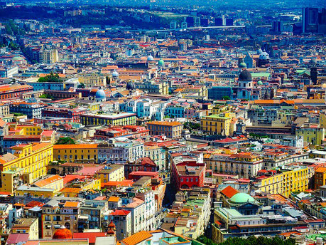 Panorama of the City Naples Italy Jewish tours