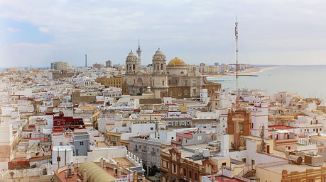 Panorama of the City Centre Cadiz Spain Jewish tours