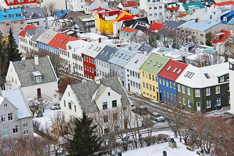 Reykjavik from above Iceland private city tours