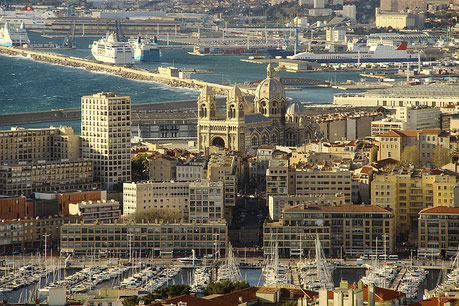 View on the Marseille Cathedral France Jewish tour