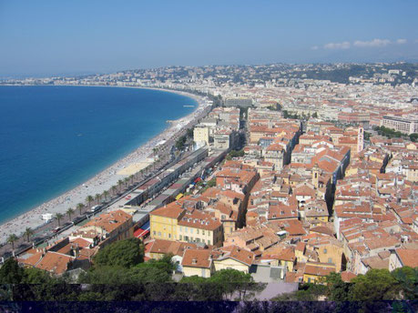 Nice Beach and City Center France