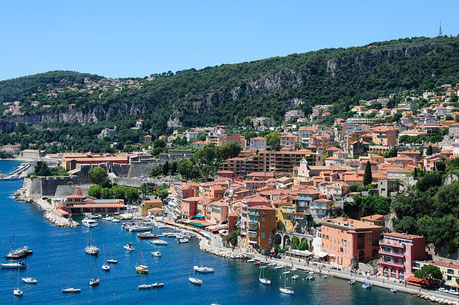 Panorama of the City Villefrance-sur-Mer France cruise Jewish heritage tour