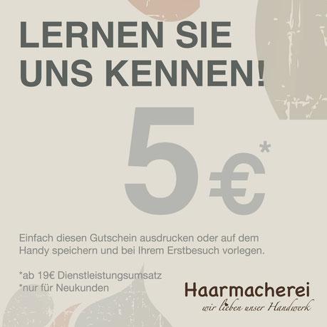Neukundengutschein Haarmacherei Friseur Karlsruhe