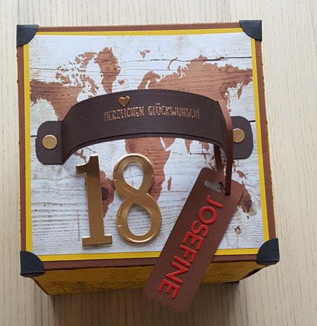 #stempelliese.com #explsionsboxen.de #Geburtstagsgeschenk # Liebeserklaerung #Reisegutschein #Australienreise