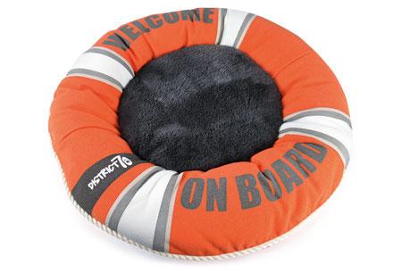 Hundestrand Hundebett District 70 Life Buoy Rettungsring Welcome on Board Orange Lifestyle