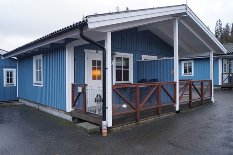 Das Quartier von uns auf einem riesigen Campingplatz in Ullared, welcher auch Cabins vermietet. Foto: Ulf F. Baumann