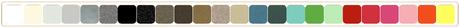 choix de 38 coloris, nuancier des couleurs disponible en page Accueil.