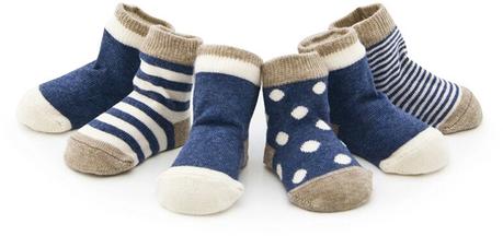 Babysocken in blau – süßes Geschenk zur Geburt