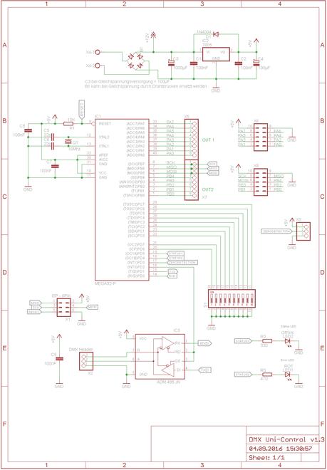 Schaltplan DMX Uni Control