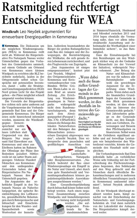 Rhein-Lahn-Zeitung v. 17.06.2015
