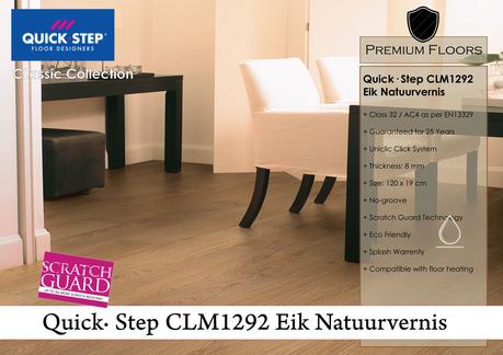Foto laminaatvloer Quick∙Step Classic CLM1292  Eik Natuurvernis in de woonkamer