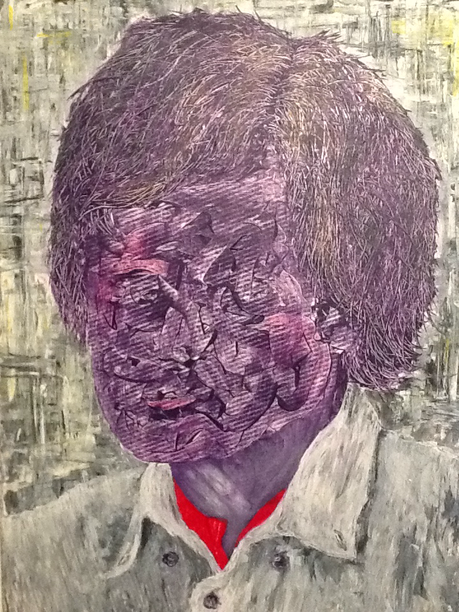 it`s me, the artist, Acrylic on canvas /70 x 100 cm