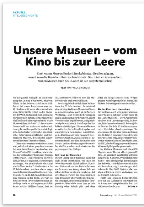 Coopzeitung N.19 vom 10. Mai 2021