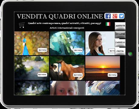 template negozio online quadri