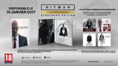 Hitmansera disponible le31janvier 2017 sur Xbox One, PS4et PC.