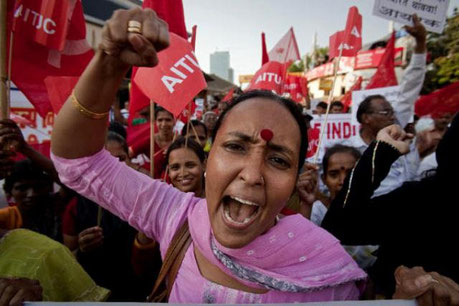 Anti-atomkraft protest i Mumbai