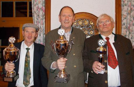 v.l.: Rudi Warobiow, Albert Vosseler, Wolfgang Kokartis