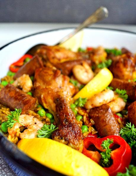 Paella statt mit Reis einmal mit Hafer als Basis, also Haella!