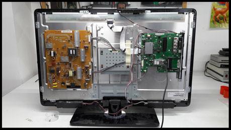 esempio di riparazione tv samsung nella sede a Torino Video System