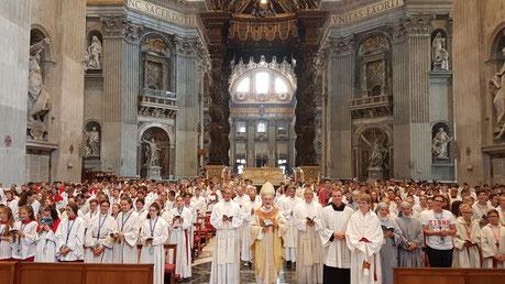 Gottesdienst im Petersdom, Foto: Geraldo Hoffmann