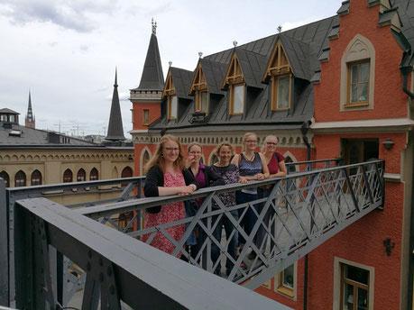 Ausflug in Stockholm: Anna Nick, Daniela D., Ursula Hartmann, Maria Korten und Stephanie Jarvers