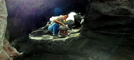 Höhle, Strand, Beachclean, Lanzarote, COUP, esmussein, Cleaner Ocean Upcycling Productions