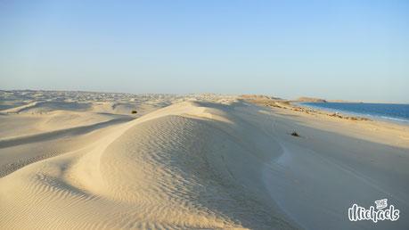 The Michaels, Seidenstrasse, weiße Wüste, Oman, Strand