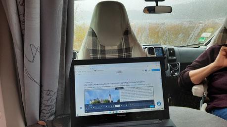 Schietwetter... Zeit für Arbeit an der Reise-Homepage