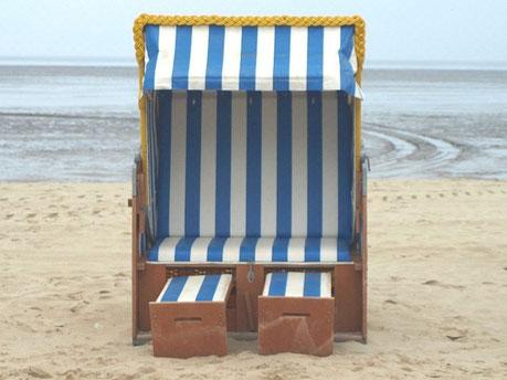 Cuxhaven Ferienwohnung günstig da der Strandkorb inklusive ist