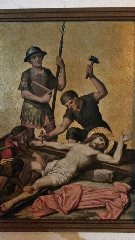 Ausschnitt aus der Kreuzigungssequenz Christi