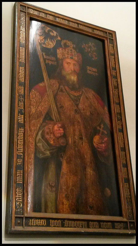 Albrecht Dürers Porträt des Kaisers entstand während seines Aufenthaltes in Aachen