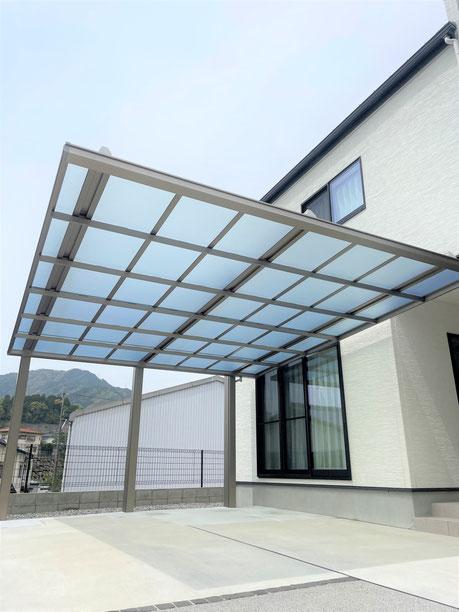 広島市南区 隣地部分 目隠しフェンス・化粧ブロック設置 リフォーム