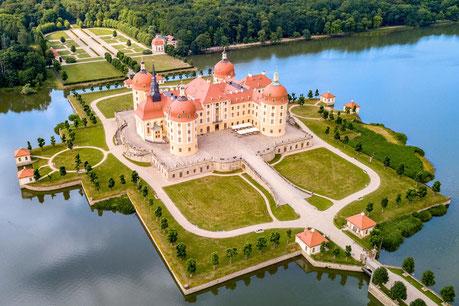 Blick auf Schloss Moritzburg, Bild: Arvid Müller