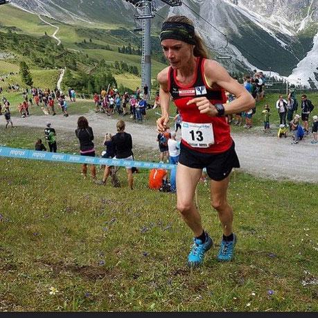 Tanja Bauer im Schlussanstieg aufs Kreuzjoch (Foto zVg)