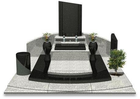 デザイナーズ墓石MemoireMaChere和モダンⅡ