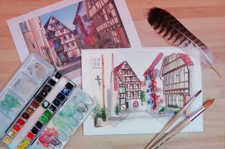 Wasserfarben - Watercolour - Malerei - Malen lernen - Mal-Technik