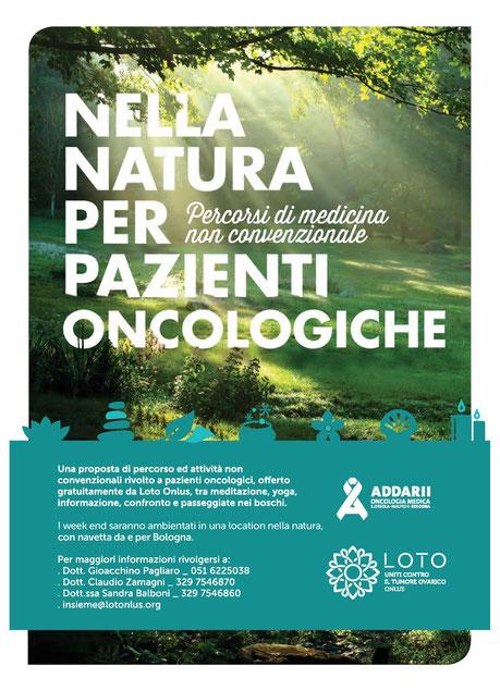 Locandina dell'evento Nella Natura per pazienti oncologiche