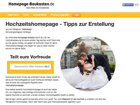 Hochzeitsregion Hochzeitshomepage-Baukasten.de Nürnberg