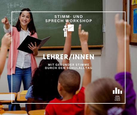 Dein JOIN YOUR VOICE – Stimm- und Sprechworkshop als LehrerIn