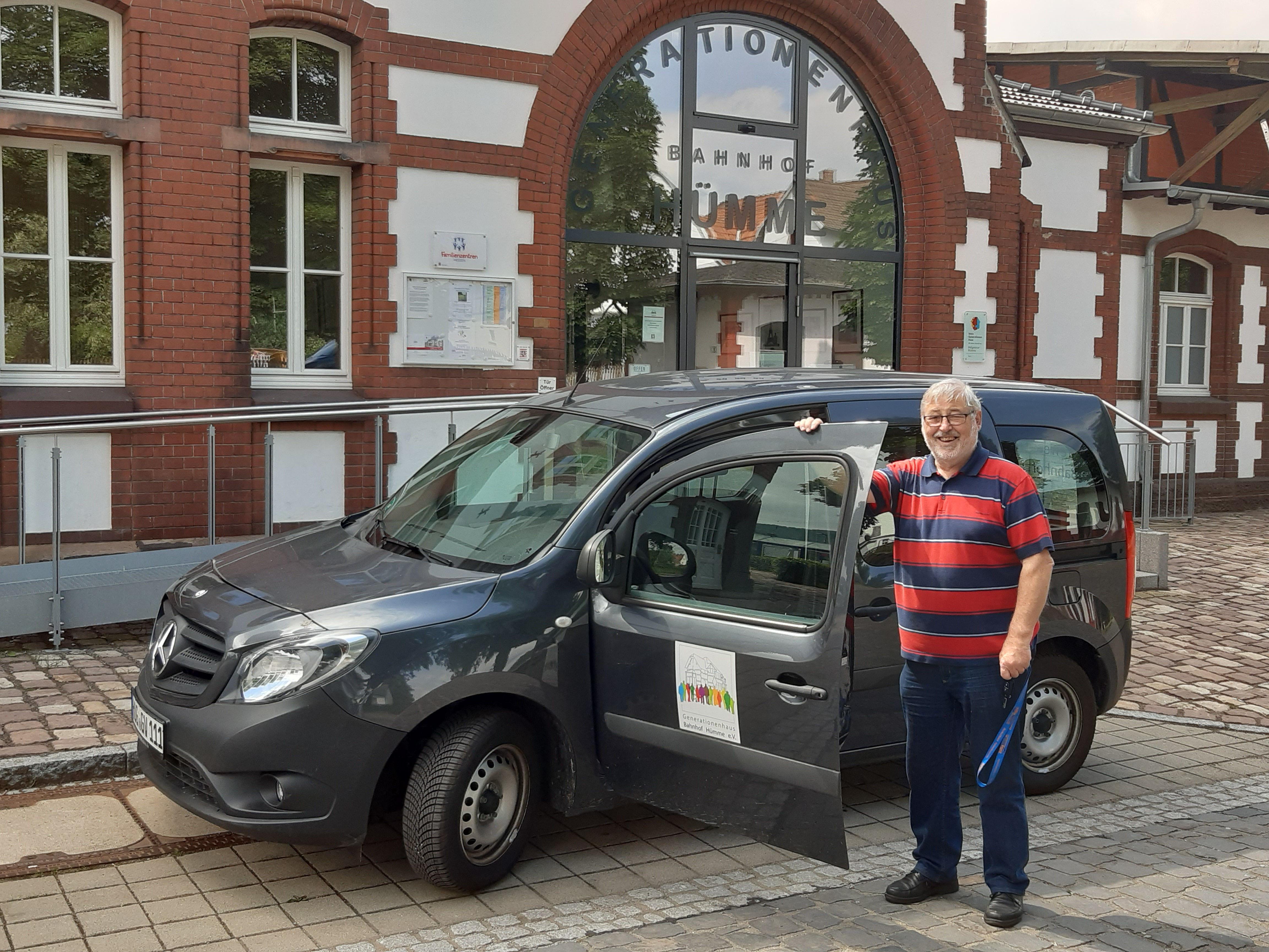 Günter Piringer vom Fahrdienst freut sich schon auf die nächste Tour (Foto: Peter Nissen)