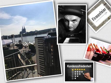 Köln Sky mit dem Akkordeonspieler Markus Lingscheid
