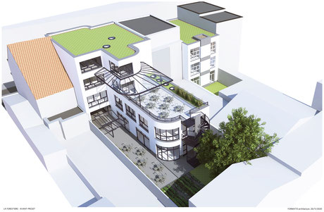 3D modelisation of the future building