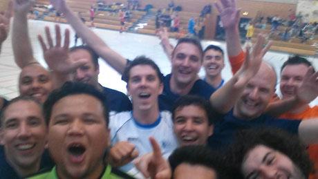 Das Time-Out-Selfie (Foto: Futsal-Team Hochschule Rhein-Waal)