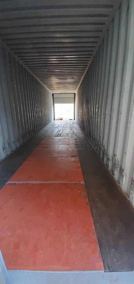 海上コンテナ40ft ハイキューブ シャッター付(中古/グレー塗装)