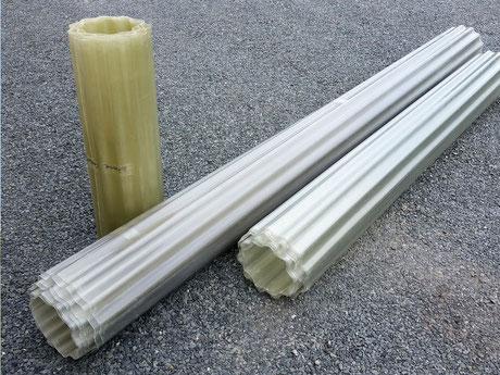 Polyester Wellbahnen & Flachbahnen
