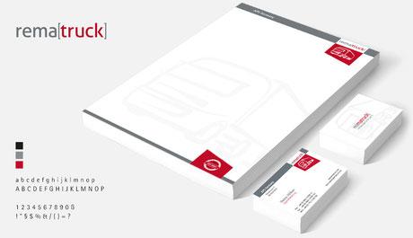 Logo & CD für die Marke rematruck