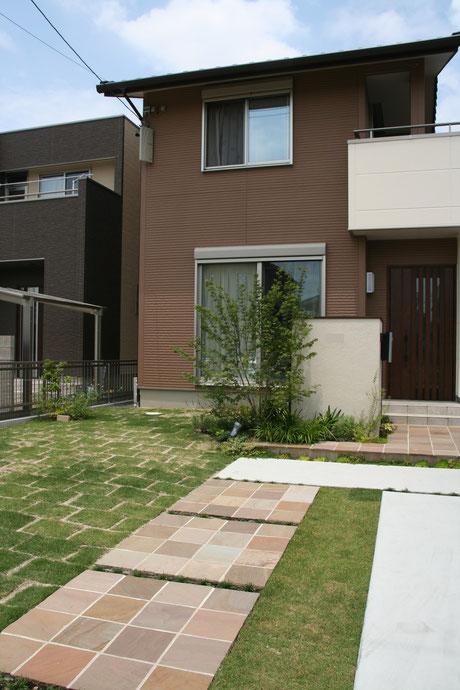 一宮市 お庭と外構が一体になった空間
